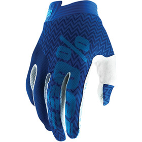 100% iTrack Gloves blue/navy